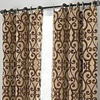 Grommet Top Patterned Curtains.