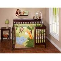 Little Bedding by NoJo Jungle Time Crib Bedding 3-Piece Set