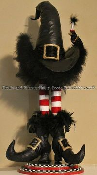 Halloween Centerpiece Wicked Witch Of The West Hat And