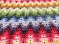 Colorful AFGHAN - free Pattern diagram and video tutorial