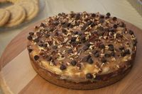 chocolate chip cookie dough turtle cheesecake