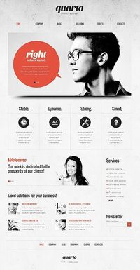 WordPress, Web template