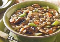 Our Mushroom Barley Soup is packed with nutrients and flavor!