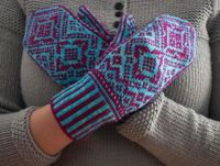 Hopi Mittens - I wonder whether I could adapt these to use double knitting. It would make the inside smoother and the mittens slightly warmer.