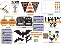 31 family activities to countdown to Halloween (with links and ideas for each one)...10 pages of printables to go along with the activities for $3 at Kiki and Company #halloween #printable