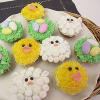 DIY cute Easter cupcakes serendipatious