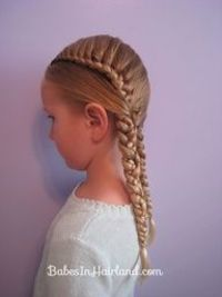 lace braid pigtails