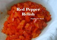 Red Pepper Relish with Free Printable Labels | Juggling Act