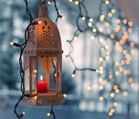 Lantern & Christmas Lights