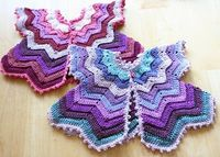 Colorful Star-Shaped Baby Vest free crochet pattern
