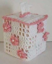 Free Crochet Pattern Floral Boutique Tissue Box Cover