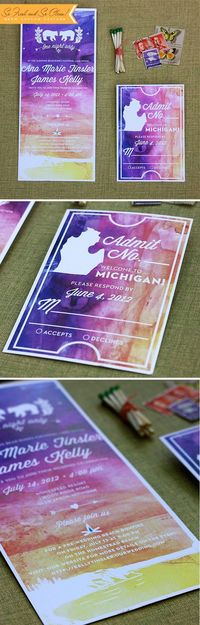 watercolor invitation by Paisley Quill