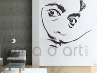 Salvador Dali wall decal sticker for modern and contemporary wall art home decoration