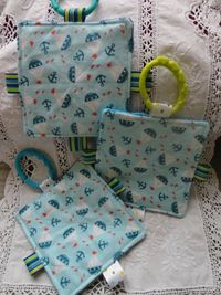 Nautical baby- Crinkle square
