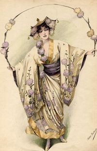 Vintage costume illustration