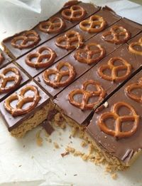 Five Minute Cream Cheese-Peanut Butter Pretzel Bars