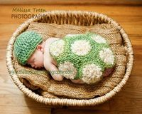 Crochet Baby Hat Turtle Shell Newborn