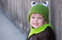 everywhere orange: Tutorial: Kermit Hat with matching Kermit Cowl