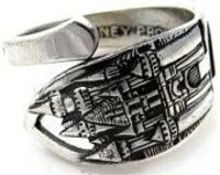 Disneyland Spoon Ring Size 7 Solid Sterling Silver