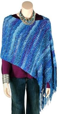 Hudson poncho, free pattern from Berroco. Great for ...