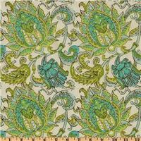 Amy Butler Soul Blossoms Voile Dancing Paisley Limestone