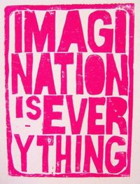 imagination is everything #typography #design #font