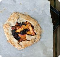 peach + blackberry galette
