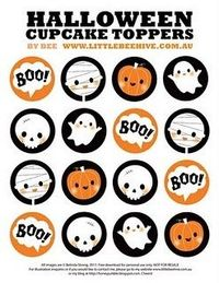 Happy Halloween Cupcake Toppers