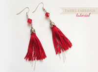 easy tassel earring tutorial