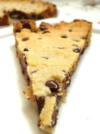 Grain-Free, Vegan Chocolate Chip Cookie Cake via