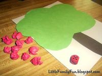 Apple Tree Game - roll dice and put that many apples on the tree