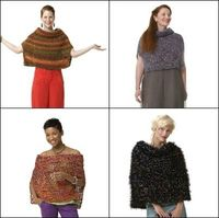 Poncho in 4 Versions: Moonlight Mohair Version