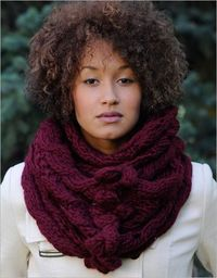 Bobble and eyelet cowl: Interweave Knits Winter 2011