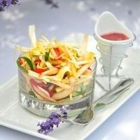 Vegetables ribbon salad