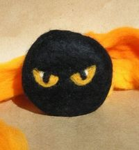 Ninja Eyes Felted Soap Organic Soap Eco Friendly Soap by Engelfelt, $12.00