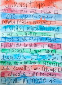 Create a vacation to-do list.