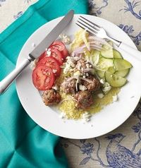 Lamb Meatballs With Couscous and Feta