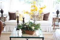 Fall touches to a white room