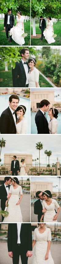 Gorgeous, not-typical-Mesa-Temple photos by Lang Photographers.