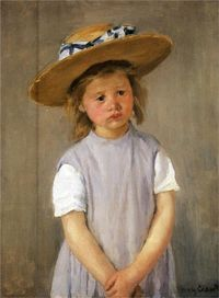 Child In A Straw Hat - Mary Cassatt -