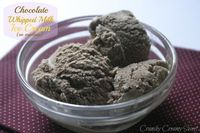 Chocolate Whipped Milk Ice Cream {no machine}
