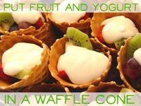 Fruit and Yogurt in a Waffle Cone!
