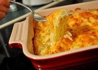 make with ff sour cream and low fat cheese-- spaghetti squash au gratin