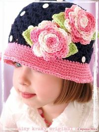 Crochet Hat Inspiration. Here is the Russian web site for it: http://www.li.ru/interface/pda/?jid=4126177=233087983=1=0=/users/montca/post233087983/. Does have diagrams and other pretty photos etc.