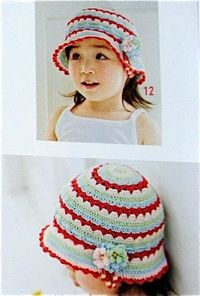 Colorful Summer Hat with Flowerpostfree crochet pattern