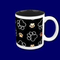 #Dogs #footsteps patterns #mugs
