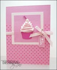 Layer ribbon to make the top of a cupcake!