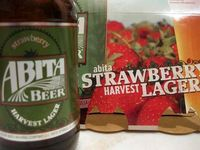 abita springs strawberry lager. may in a bottle.