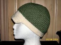Two Toned Beaked Hat - Crochet Me