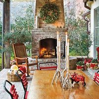 Decorate outdoor space for Christmas